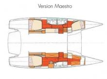 Salina 48 évolution Maestro : Boat layout