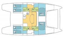 Catana 47: Boat layout
