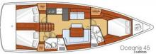 Oceanis 45 : Boat layout
