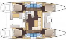 Lagoon 450 F: Boat layout