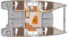 Lipari 41 Evolution: Boat layout