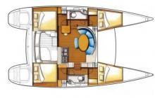 Lagoon 380 S2: Boat layout