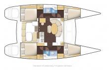 Lagoon 380: Boat layout