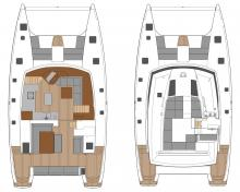 Saba 50 Maestro : Deck and saloon layout