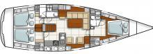 Hanse 470e : Boat layout