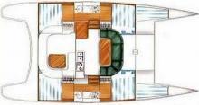 Nautitech 395: Boat layout