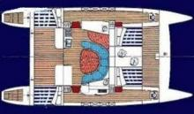 Boat layout - Sud Composite Grand Sud 42, Used (1996) - France (Ref 298)