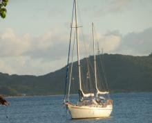 """At anchor in Martinique - One off Ketch """"Nuit des Temps"""", Used (1976) - The Caribbean (Ref 427)"""