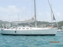 At anchor in Martinique - Beneteau First 41 S5, Used (1992) - Martinique (Ref 461)