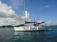 Cyclades 39.3: At anchor in Martinique