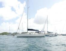 Harmony 42:  Martinique anchorage