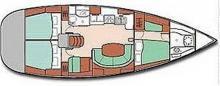 Boat layout - Beneteau Oceanis 411 celebration, Used (2003) - Martinique (Ref 245)