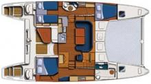 Catana 431 : Boat layout