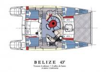 Fountaine Pajot Belize 43 : Boat layout