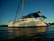 Athena 38 : At anchor in Caribbean