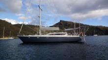 Dynamique 52: At anchorage  Martinique