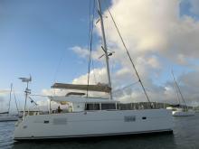 Lagoon 400:Le Marin anchorage in Martinique