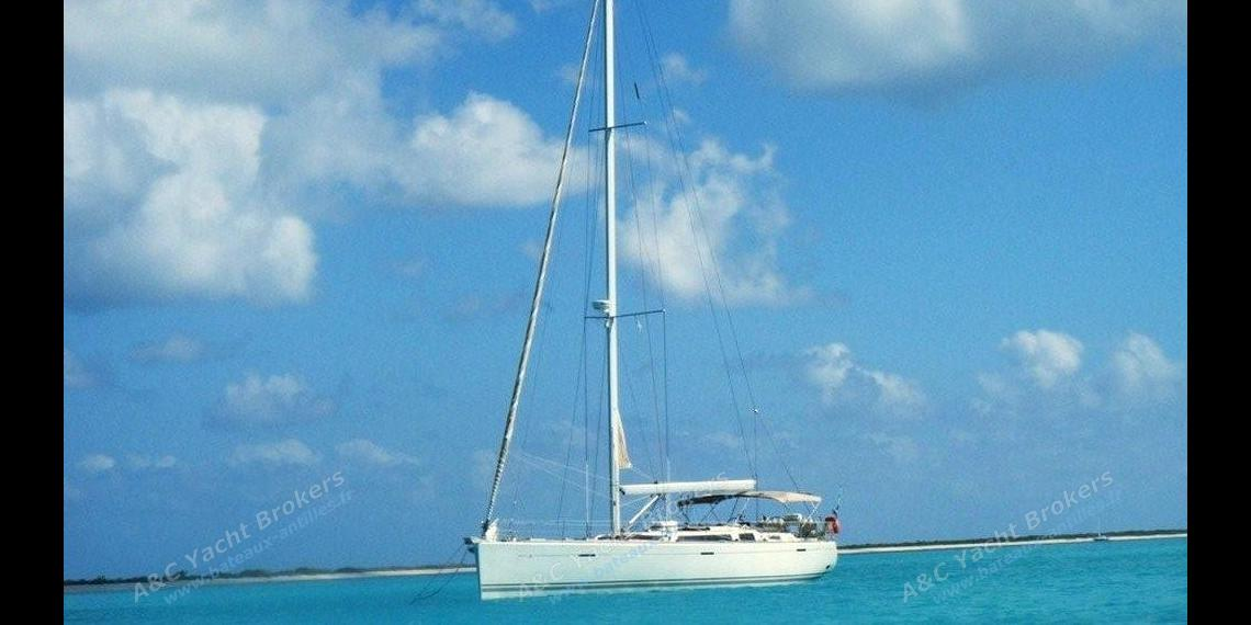At anchor in The Caribbean - Dufour Yachts Dufour 525 Grand'Large, Used (2008) - Guadeloupe (Ref 360)