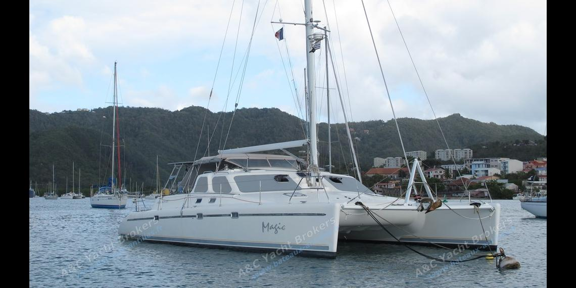 At anchor in Martinique - Voyage Yachts Norseman 430, Used (1996) - Martinique (Ref 450)