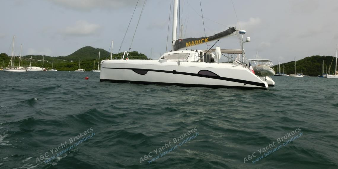 Outremer 49 : At anchorage in Martinique