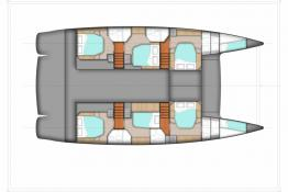 Fountaine Pajot Sanya 57: 6-cabin version boat layout