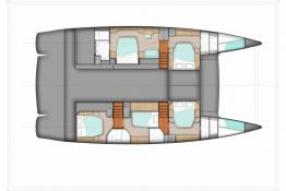 Fountaine Pajot Sanya 57: Owner version boat layout