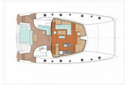 Fountaine Pajot Sanya 57: cockpit and deck layout