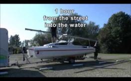 Astus 22 Trimaran boat launch