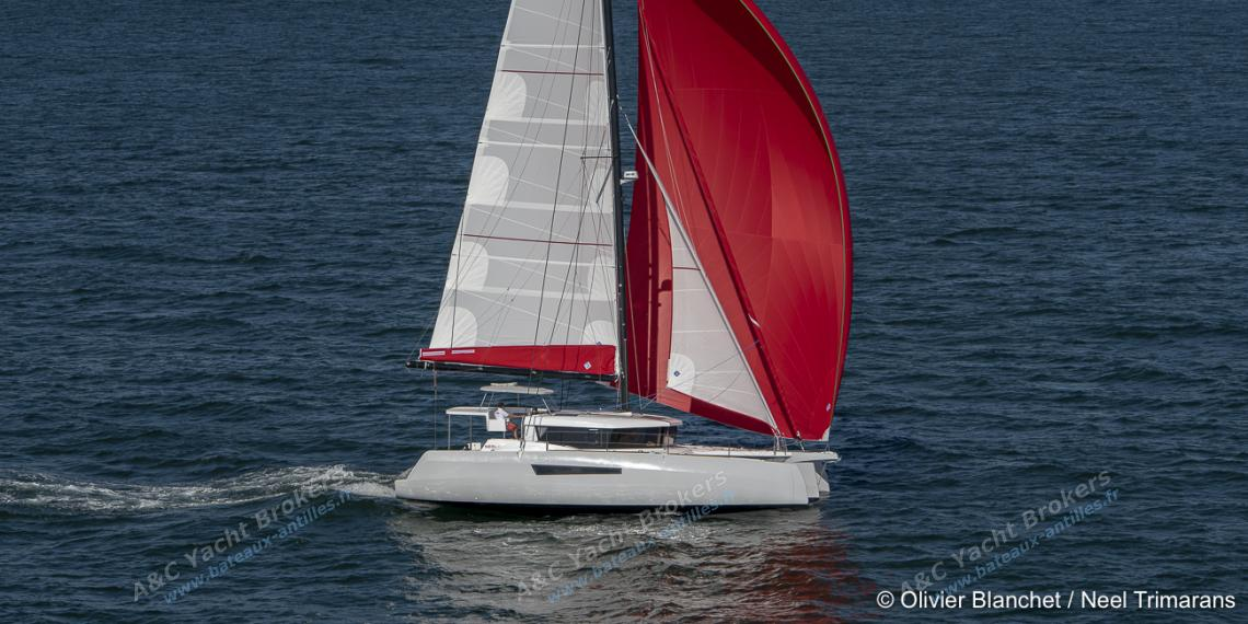 Neel Trimaran Neel 47 : Navigating under spinnaker