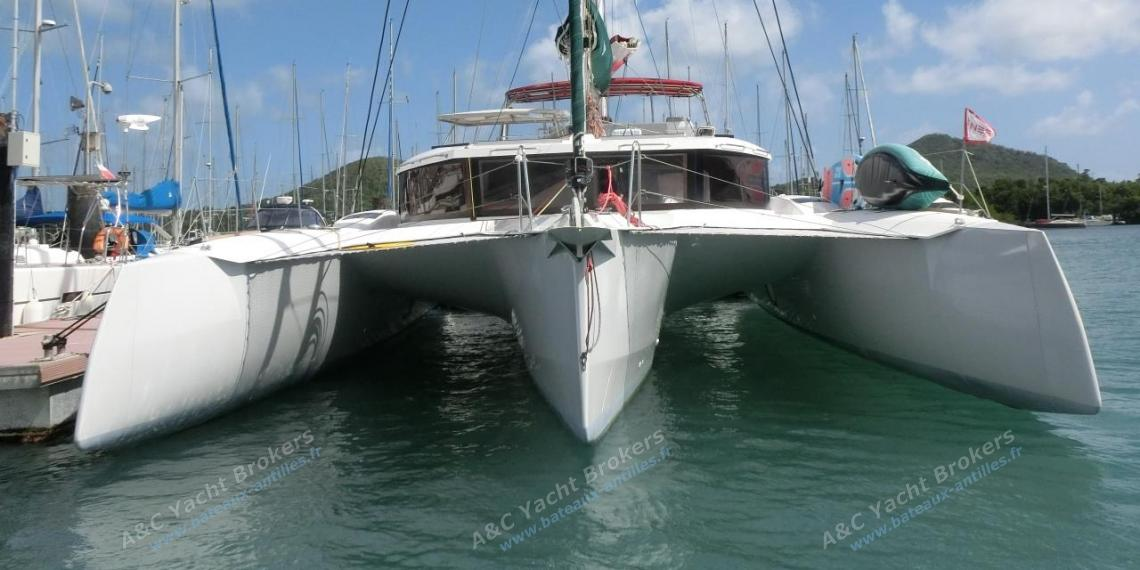 NEEL-TRIMARANS NEEL 47 : At the pontoon in Martinique